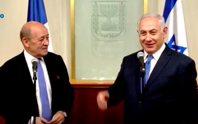 Le Drian et Netanyahou