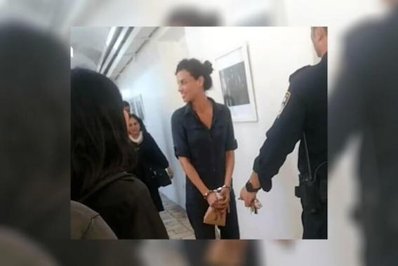 Yifat Doron, militante israélienne condamnée à 8 mois de prison pour avoir giflé le procureur israélien lors du procès d'Ahed Tamimi