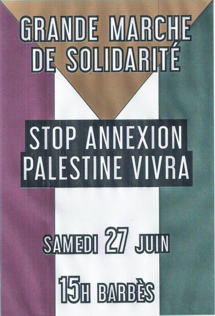 Manifestation Palestine 27 juin Barbès