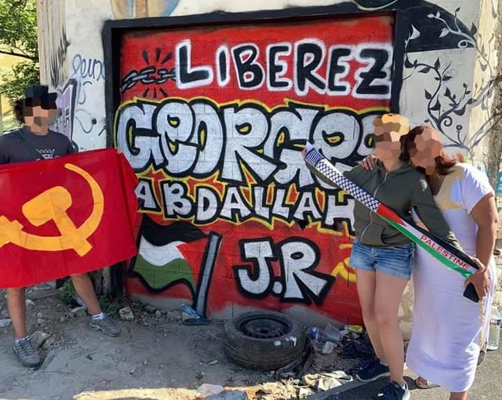 Actions  du 15 au 22 juin 2020 dans le cadre de la semaine internationale de lutte pour la libération de Georges Abdallah.