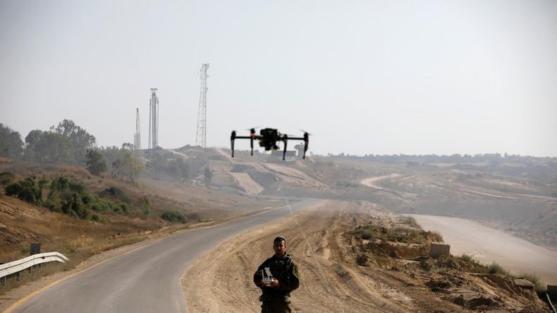 USA : Présence de drones de la firme israélienne Elbit au-dessus de la tête des manifestants contre les violences policières.