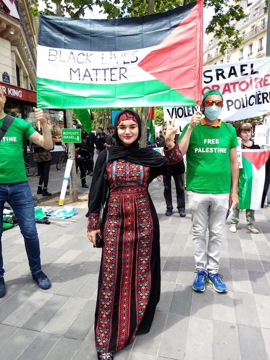 Manifestation contre le racisme et les violences policières : La Palestine présente et solidaire