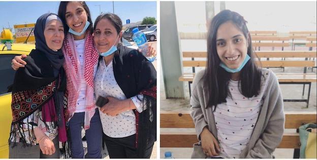 Libération de l'étudiante de Birzeit, Samah Jaradat, après 9 mois d'emprisonnement par Israel.