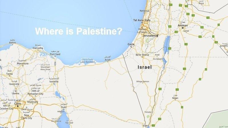 Google et Apple n'ont jamais mentionné le nom de la Palestine sur leurs cartes