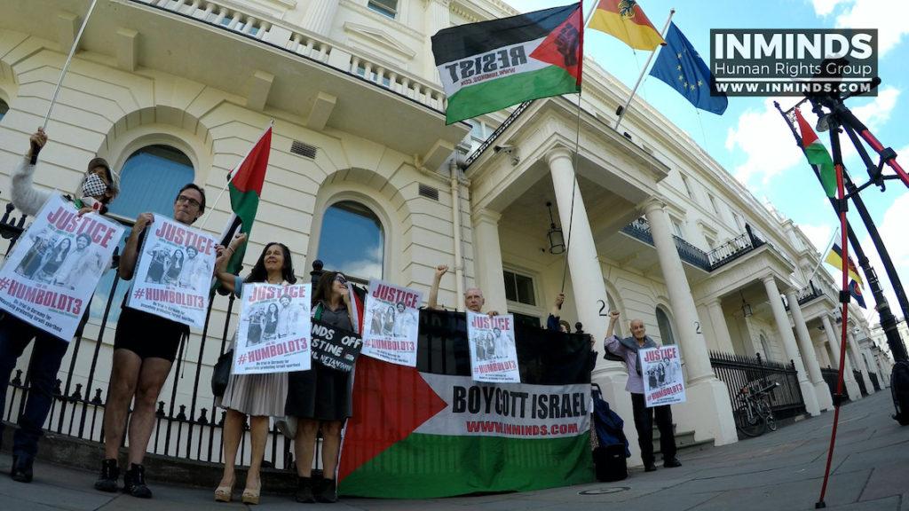 A Londres aussi : solidarité avec les 3 militants BDS de Berlin (Vidéo)