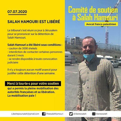 Salah Hamouri libéré après une semaine de détention sans la moindre accusation !
