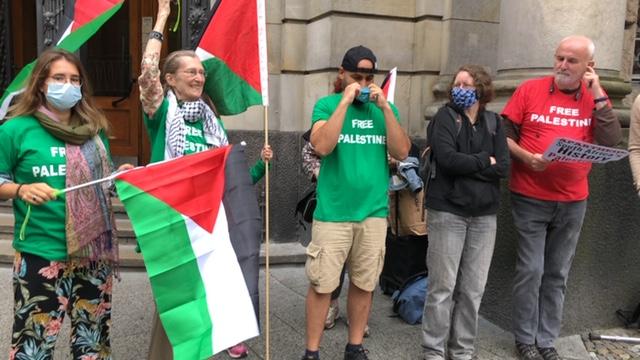 Procès BDS à Berlin : Vidéo de la manifestation