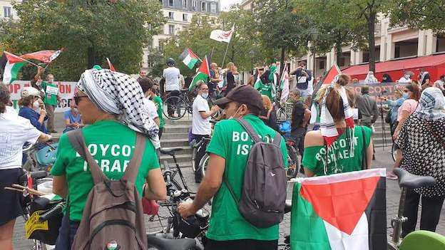 Nous, on roule pour la Palestine, pas pour l'apartheid ! (balade à vélo pour la Palestine samedi 19 septembre à Paris)