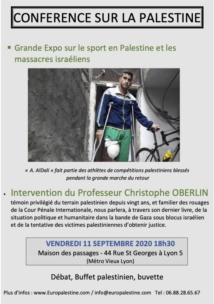 RV avec la Palestine ce vendredi à Lyon !