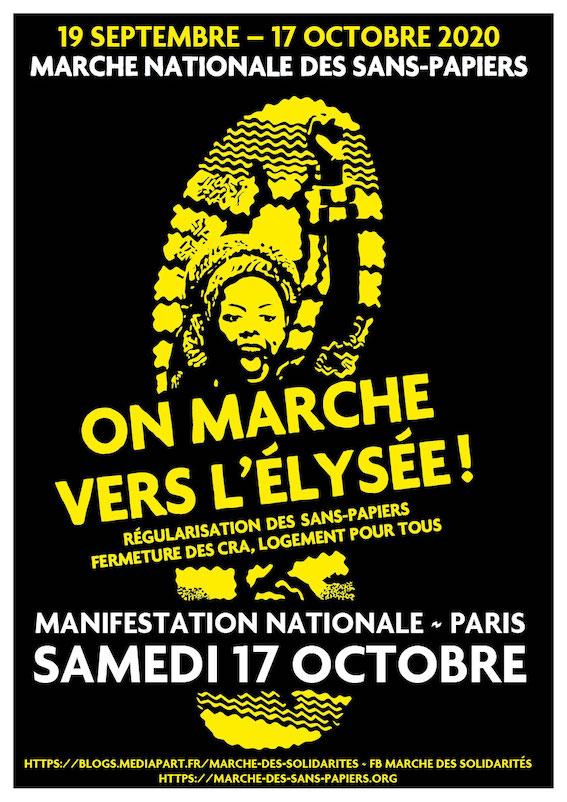 Marche nationale des Sans-Papiers : 4 marches en route vers Paris !