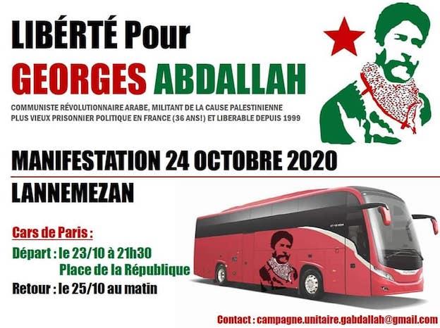 La manifestation pour la libération de Georges Abdallah doit être massive !