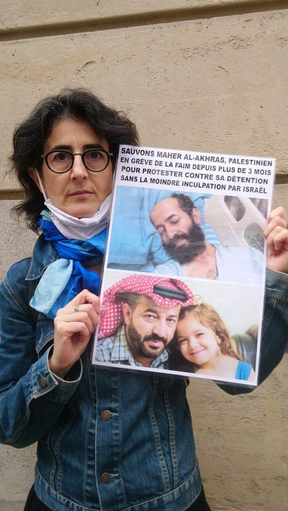 Manifestons notre solidarité avec Maher Al-Akras ! (Photos)