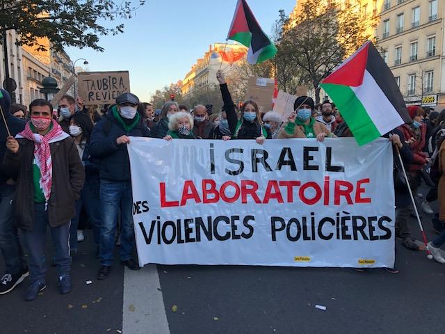 """La Palestine bien présente dans les manifestations sur la """"sécurité globale"""" (Photos)"""