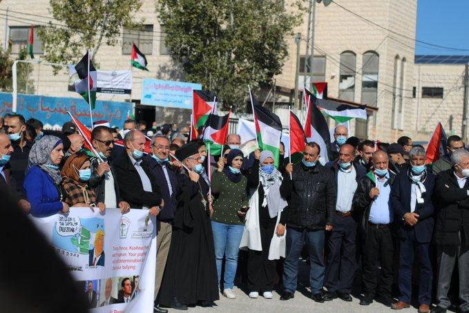 Manifestations contre la visite de Pompeo au vignoble des colons israéliens