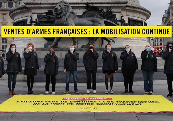 Rassemblement tous les jeudi à Paris contre les ventes d'armes de la France