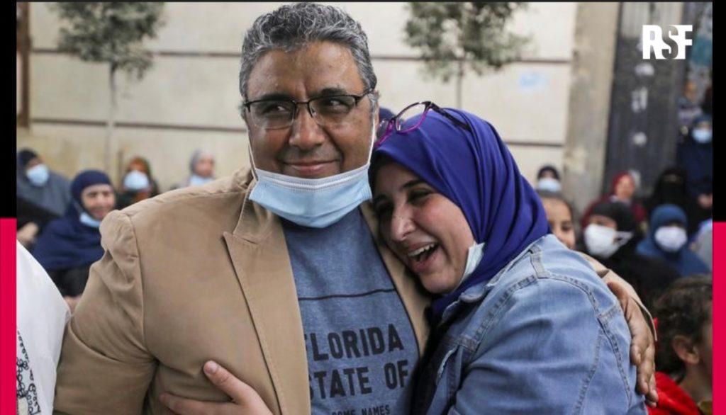 Mahmoud Hussein, journaliste d'Aljazeera enfin libéré des prisons égyptiennes