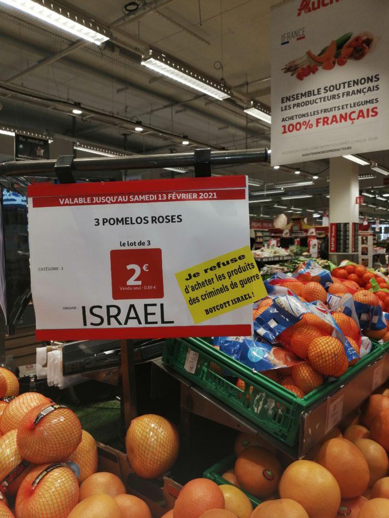 Auchan complice des criminels de guerre israéliens