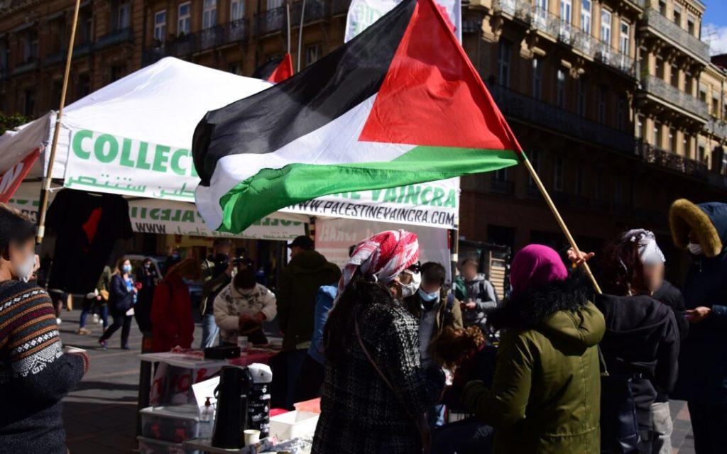 Toulouse : Belle action de solidarité avec la Palestine ! (Vidéo)