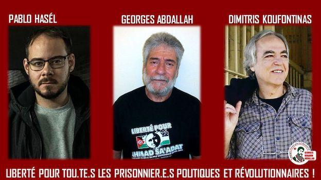 Rassemblement le 14 mars à Paris pour la libération de Georges Abdallah et deux autres prisonniers politiques