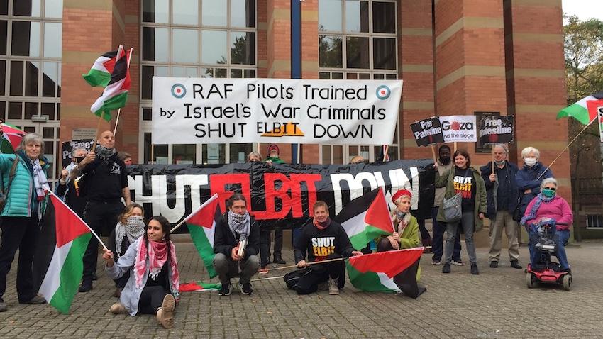 Angleterre : Soutien aux militants qui se sont attaqué à l'usine Elbit d'armement israélien (Vidéo)