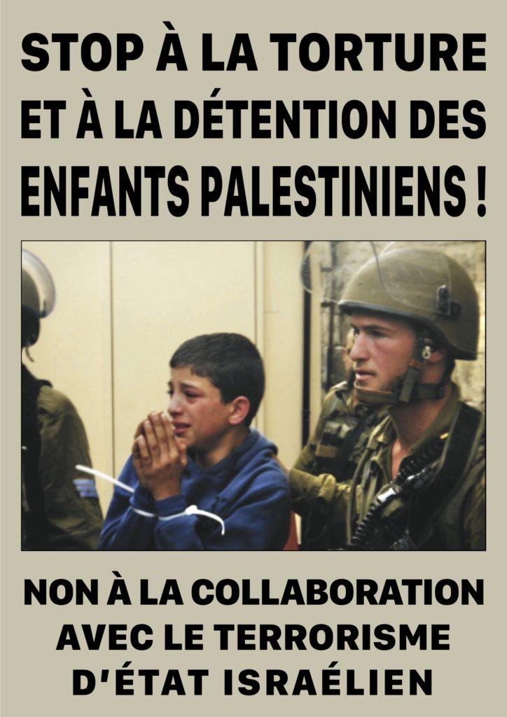 Campagne contre la détention des enfants palestiniens (Vidéo 2)