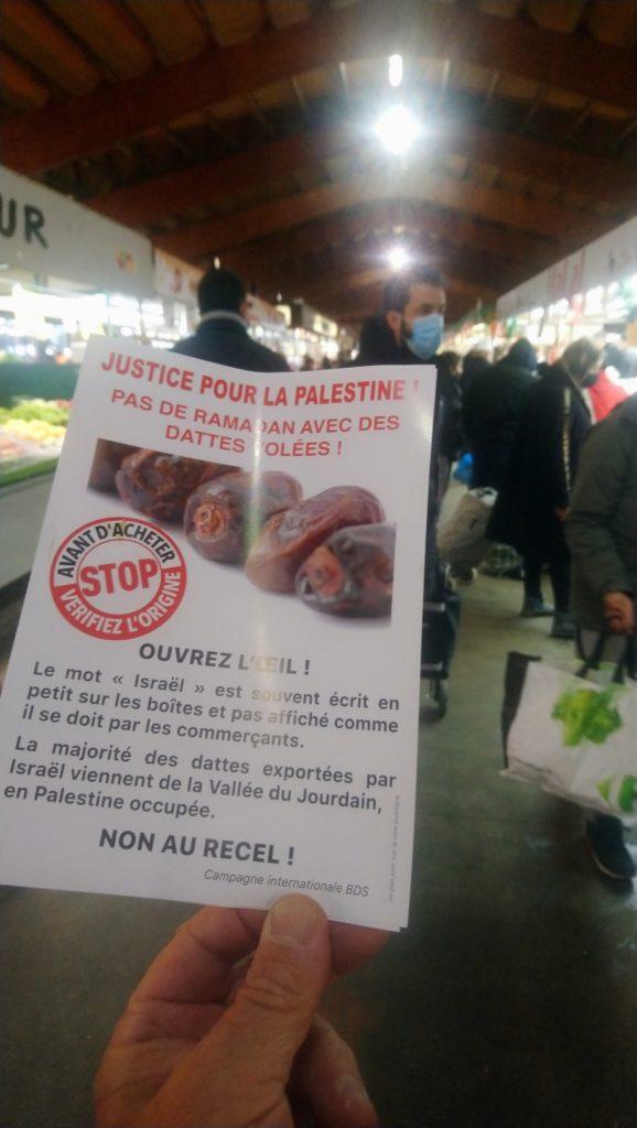 Les dattes Medjoul, exportées par Israël, on n'en veut pas ! (Photos)