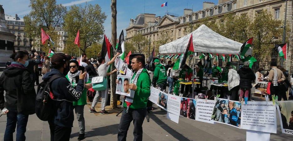 Détention des enfants palestiniens : Beau rassemblement à Paris (Photos)