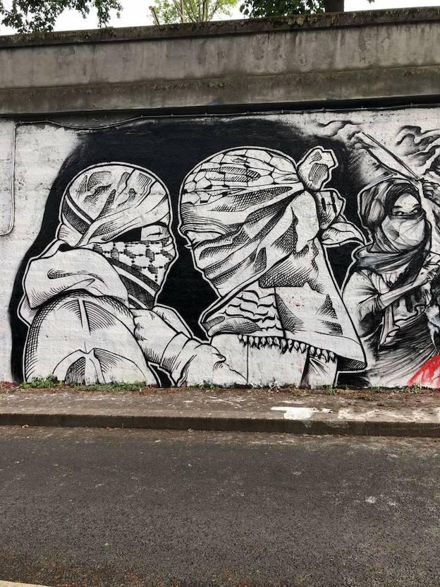 Des artistes arrêtés pour une fresque sur la Palestine !!