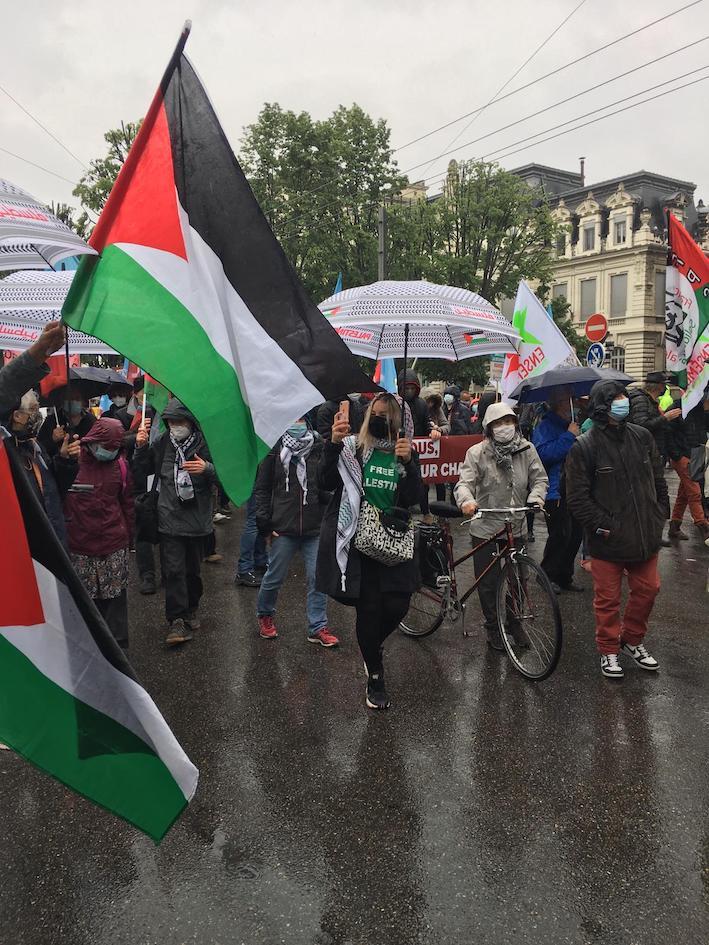 1er mai à Lyon : la Palestine bien présente ! (Photos)