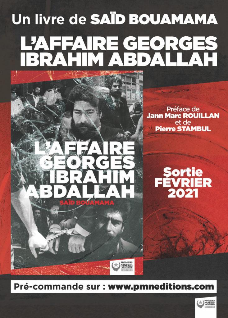 Le livre et le film sur Georges Abdallah le 12 juin à la librairie Résistances !