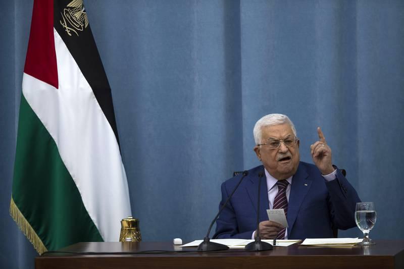 Pétition pour demander la démission de Mahmoud Abbas