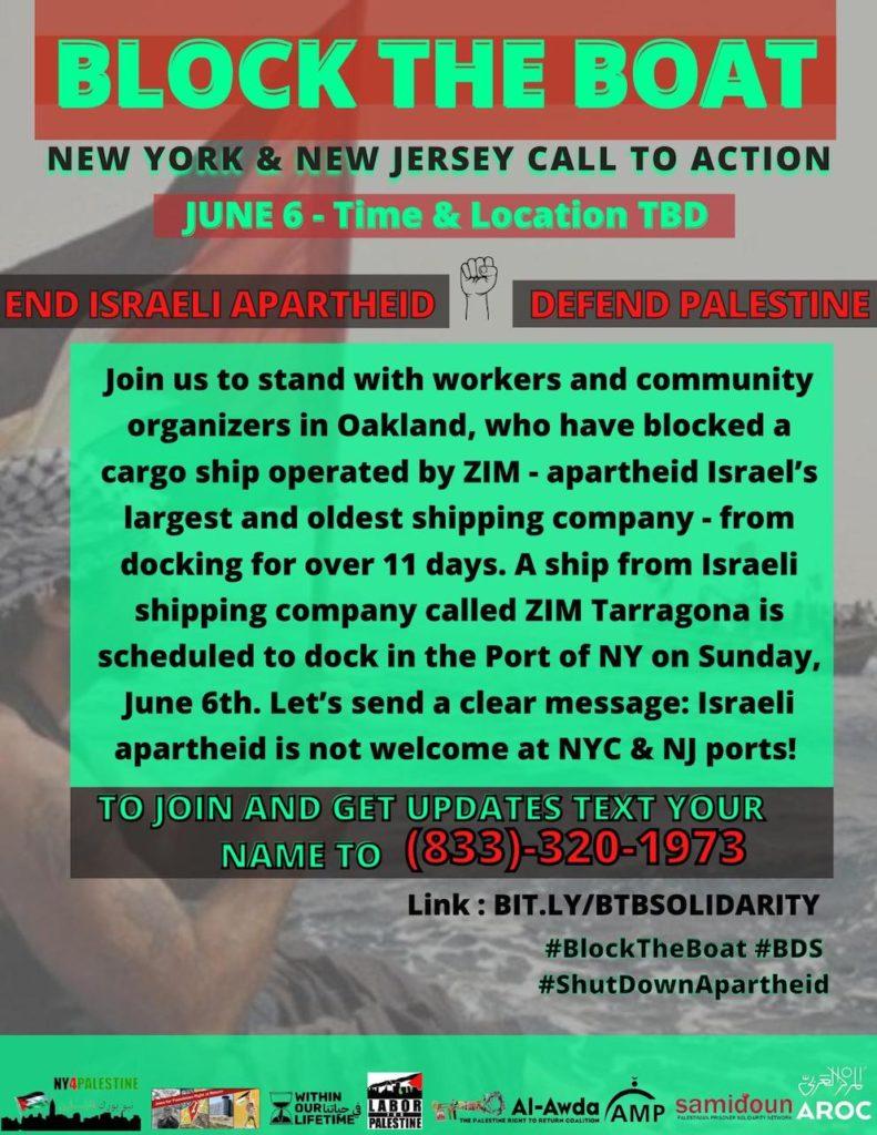 USA : action de blocage des bateaux de la compagnie israélienne ZIM