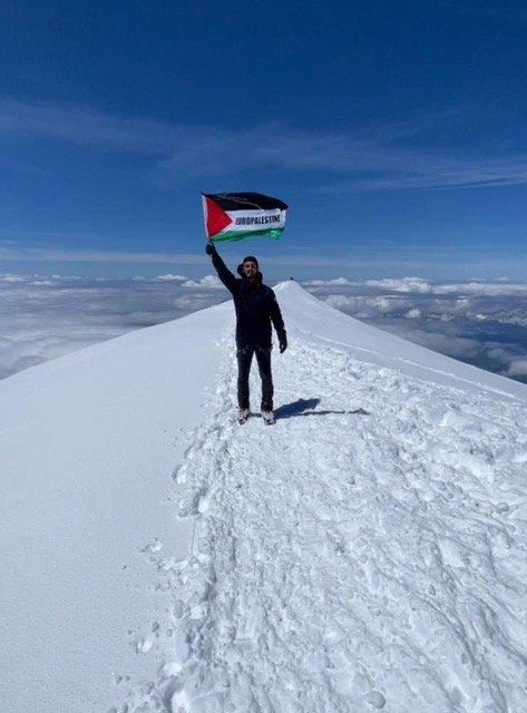 La Palestine en haut du Mont Blanc ! (Vidéo)