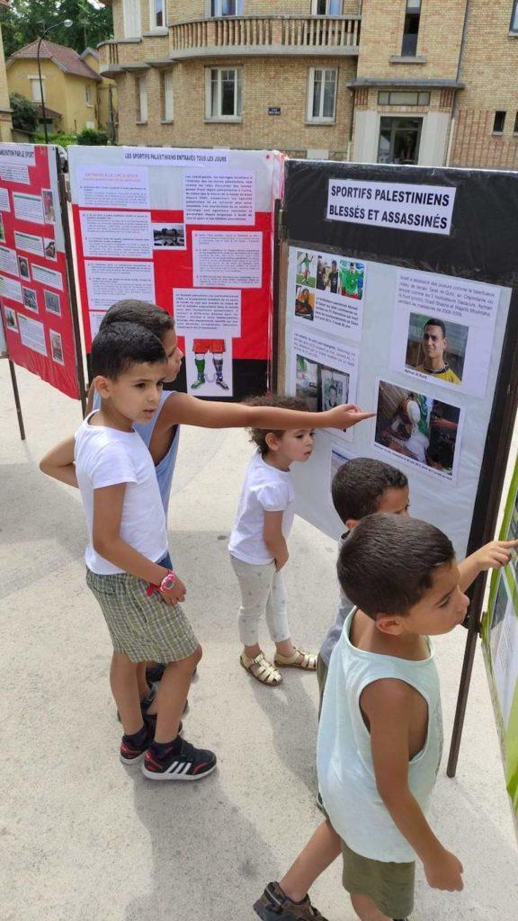 A Stains, les jeunes indignés par le sort des sportifs palestiniens
