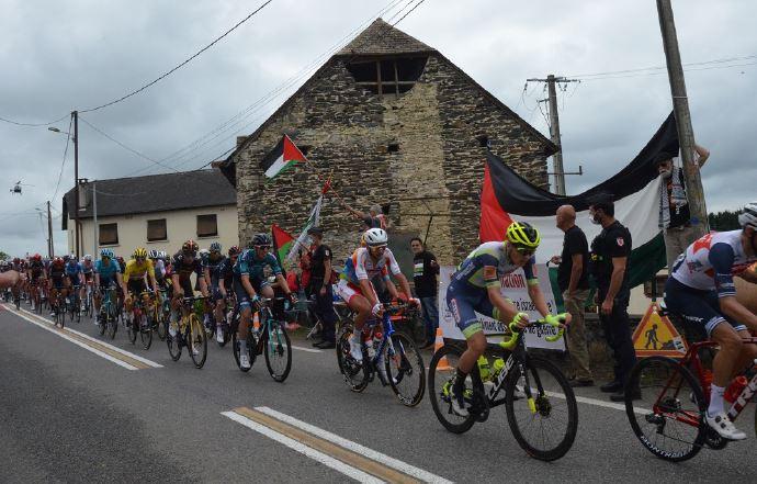 Nouveau pied de nez de la Palestine à Israël durant le Tour de France (Photos)