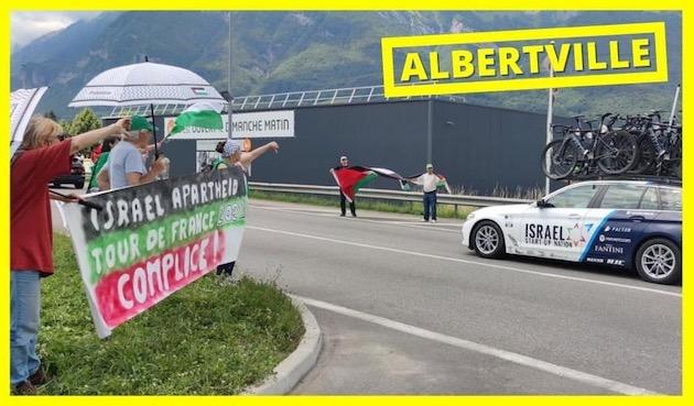 Tour de France : l'équipe israélienne accueillie comme il se doit à Albertville (Photos)