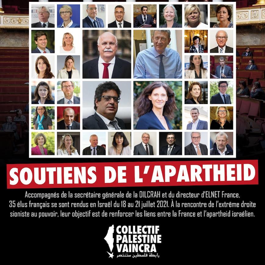 La liste des élus français ayant participé à une délégation en Israël auprès de l'extrême droite