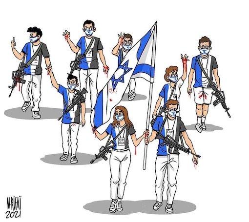 LES J.O. vus par des dessinateurs palestiniens