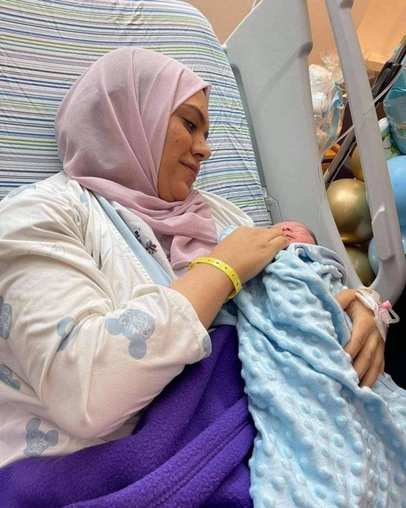 Anhar a accouché chez elle du petit Alaa !