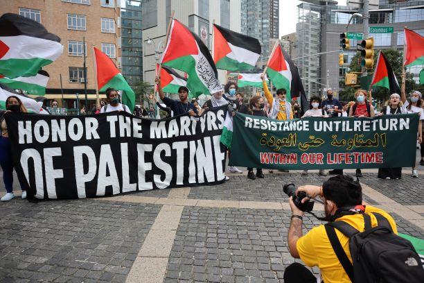 New York : des centaines de manifestants pour la Palestine ce vendredi ! (Photos)