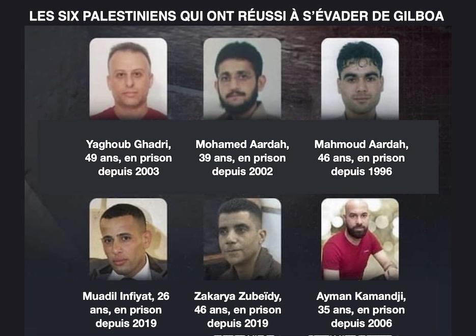 """""""Oui, les six Palestiniens évadés de prison sont des combattants de la Liberté"""", par Gideon Levy"""