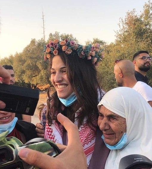 Layan Kayed, étudiante de Birzeit libérée !