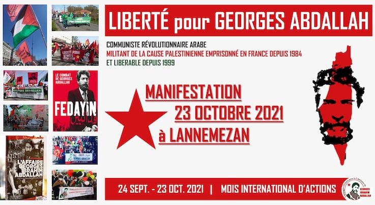 Libérez Georges Abdallah ! Manifestation du 23 octobre prochain à la prison de Lannemezan