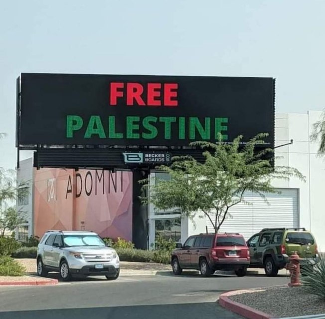 La Palestine s'affiche à Las Vegas ! (Photos)